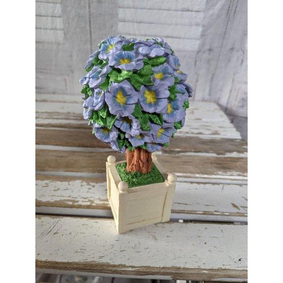 Dept 56 easter flowering topiaries purple flower t